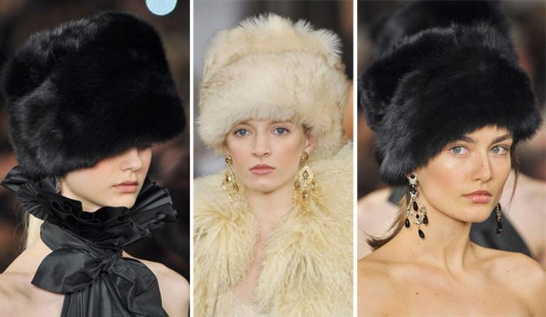 меховые шапки модные тенденции фото