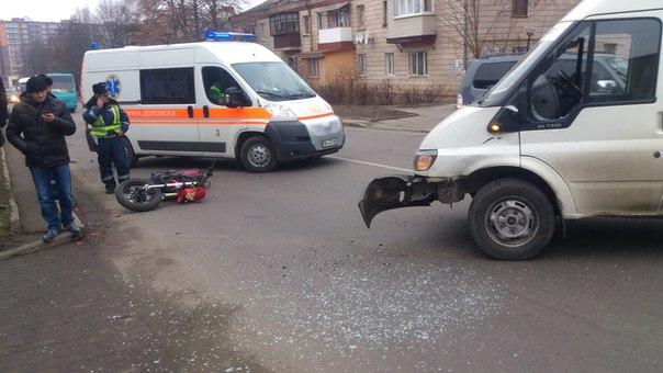 Аварія в Рівному, по вулиці Степана Бандери, є потерпілі