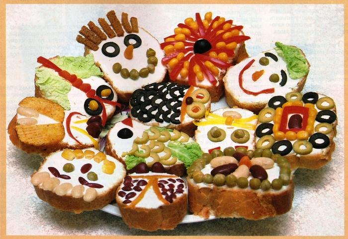 Рецепт бутербродов на праздничный стол детям