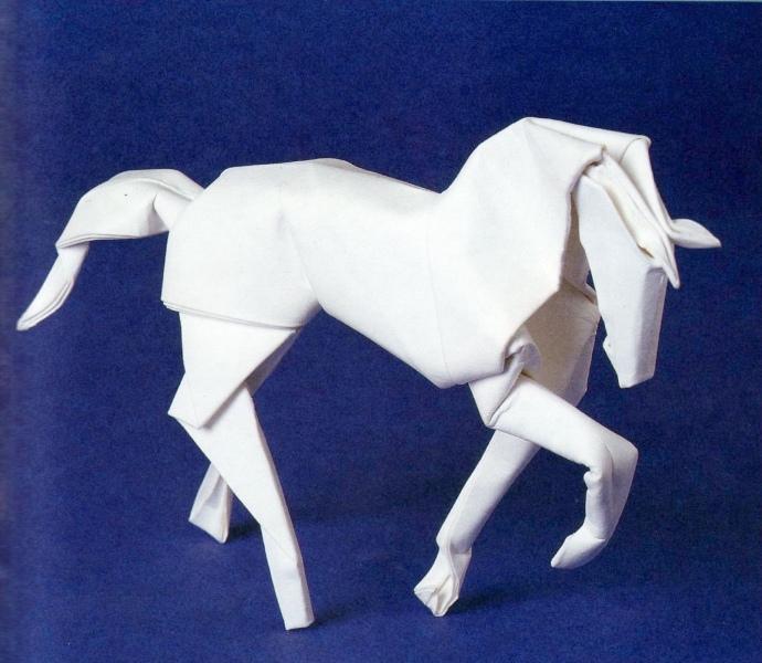 Как сделать лошадь из бумаги своими